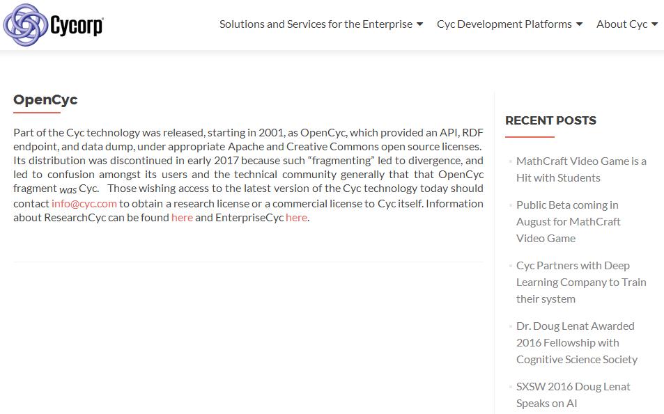 OpenCyc-域名建模